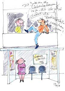 Lückenbebauung-Karikatur von Antje Püpke