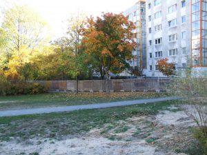 Absperrung des Grundstücks Wuhlestr. 2-8