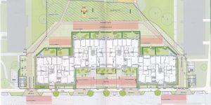 Plan des Neubaus an der Wuhlestr. 2-8